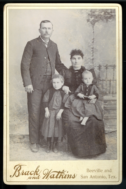 [Theodore William Hoch and Molly Schwab and their children]