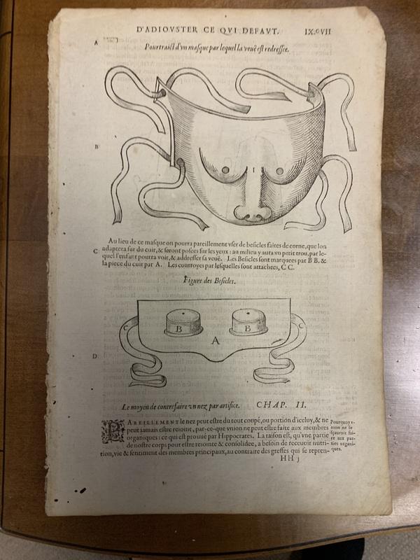 Les Oeuvres d'Ambroise... Les Moyens et Artifice d'Adiouster ce qui Default naturellement ou par Accident, Leaf