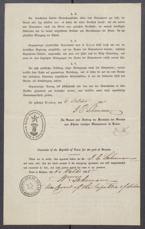 Einwanderungs-Vertrag [Immigrant Contract]