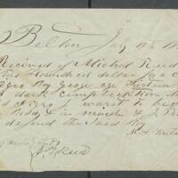 [Receipt of payment from Michael Reed for a boy named George]