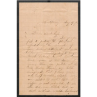 Letter to Lizzie Johnson posted from Montgomery, dated Aug. 29, 1861