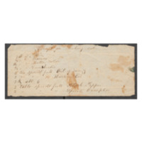 """Letter to Lizzie Williams (nee Johnson) with """"Shaking Salve"""" recipe"""